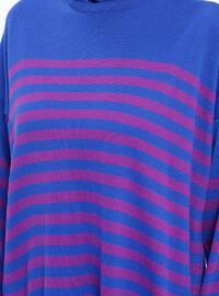 Saxe - Stripe - Crew neck -  - Tunic