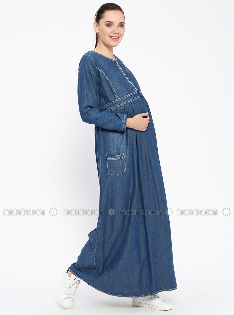 8a64df786a5 ... Denim - Maternity Dress. Fotoğrafı büyütmek için tıklayın