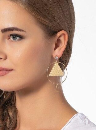 Modex Geometrik Şekilli Küpe - Altın