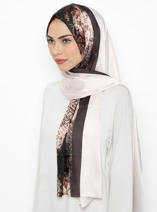 White - Leopard - Silk Blend - Shawl