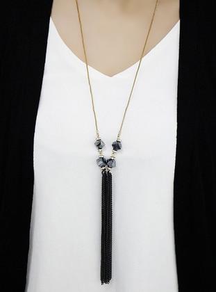 Black - Necklace - Takıştır Bijuteri