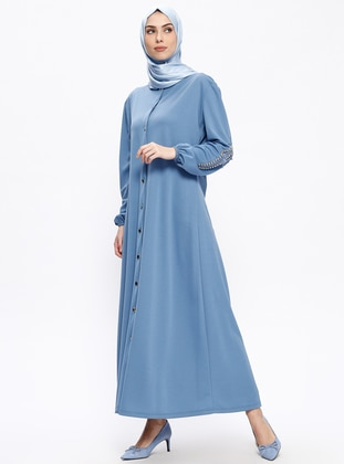 Baby Blue – Crew Neck – Abaya – Insirah