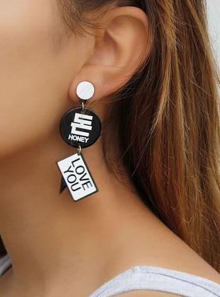 Black – Earring – Takistir Bijuteri