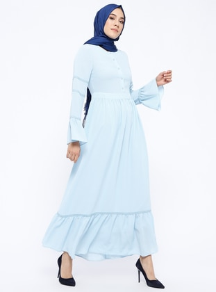 Baby Blue - Crew neck - Fully Lined - Dresses