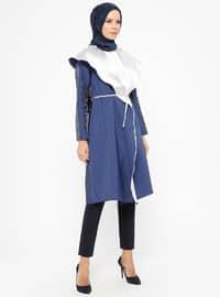 Indigo - Unlined - Shawl Collar - Topcoat