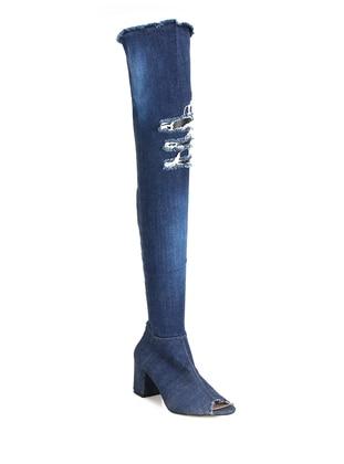 Blue - Boot - Denim - Shoes