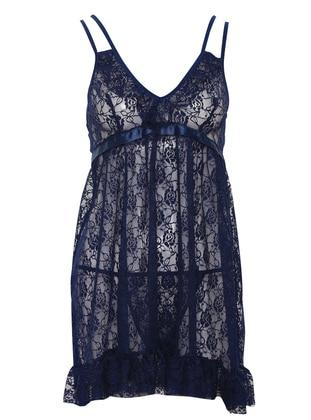 Navy Blue - Nightdress - Lingabooms