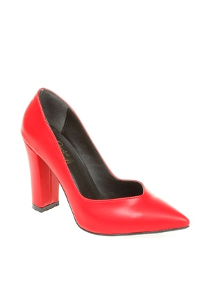 Red - High Heel - Casual - Shoes