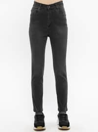 Black - Cotton - Denim - Pants