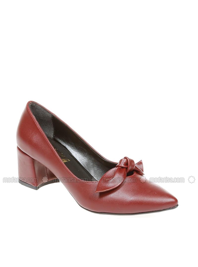Maroon - High Heel - Casual - Heels