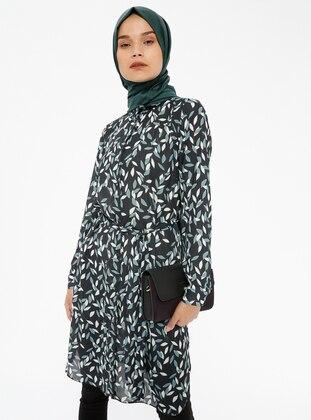 Black - Multi - Point Collar - Tunic