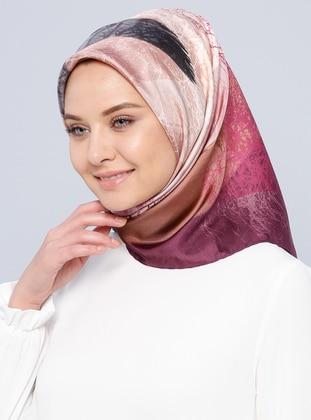 İpek Twill Eşarp - Karışık Renkli - Aker Ürün Resmi