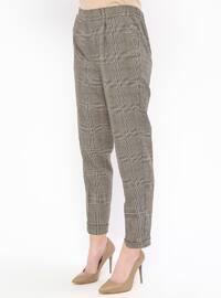 Camel - Plaid - Pants