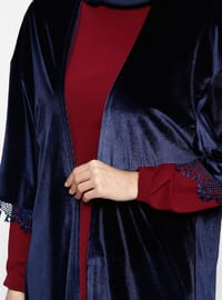 Navy Blue - Maroon - Fully Lined - Suit