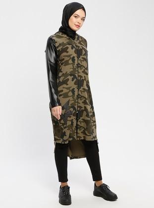 Green - Black - Multi - Unlined - Topcoat