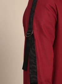 Maroon - Point Collar - Cotton - Tunic