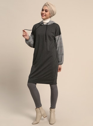 Smoke-coloured - Plaid - Tunic