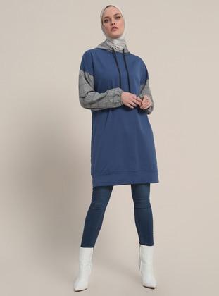 Blue - Indigo - Plaid - Tunic