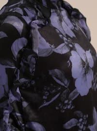 Purple - Multi - Polo neck - Tunic