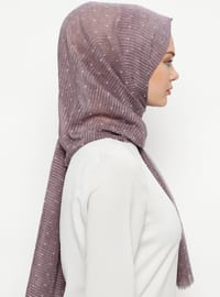 Purple - Plain - Cotton - Shawl