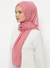 Pink - Plain - Cotton - Shawl
