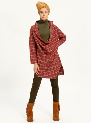 Red - White - Checkered - Tunic
