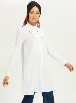 White - Point Collar - Tunic