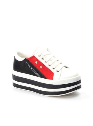Fast Step Spor Ayakkabı - Beyaz Kırmızı