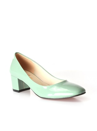 Fast Step Topuklu Ayakkabı - Yeşil Rugan