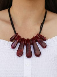 Maroon - Necklace