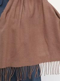 Dusty Rose - Plain - Fringe - Wool Blend - Acrylic - Shawl