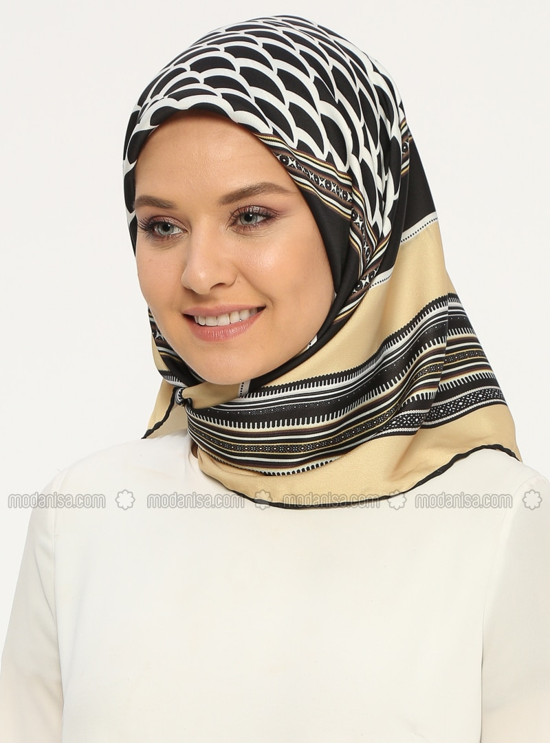 Gold - Printed - Scarf