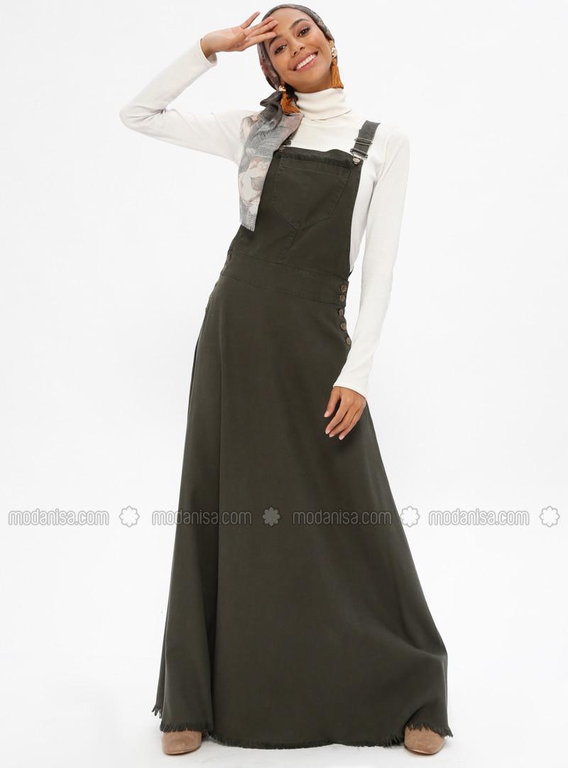 d32da701de1 Khaki - Unlined - Cotton - Denim - Dresses