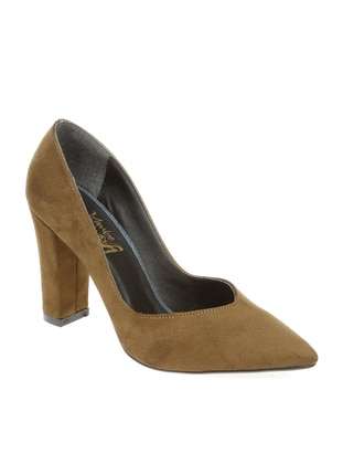 Khaki - High Heel - Casual - Shoes