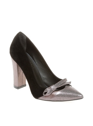 Black - Silver Tone - Casual - Shoes