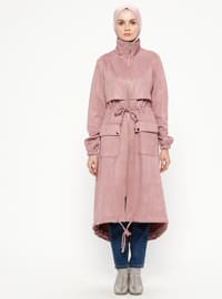 Dusty Rose - Unlined - Polo neck - Topcoat