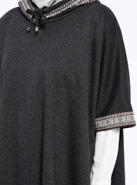 Black - Unlined - Poncho - ZENANE