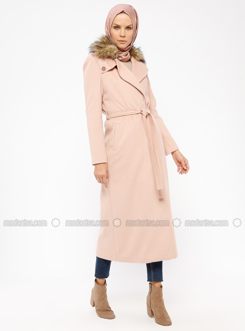 Powder - Fully Lined - Shawl Collar - Coat