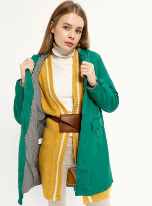 Green - Unlined - Trench Coat