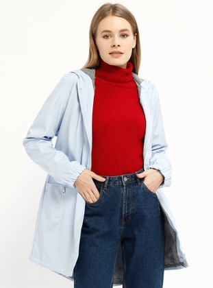 Baby Blue - Unlined - Trench Coat