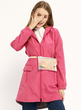 Fuchsia - Fully Lined - Trench Coat