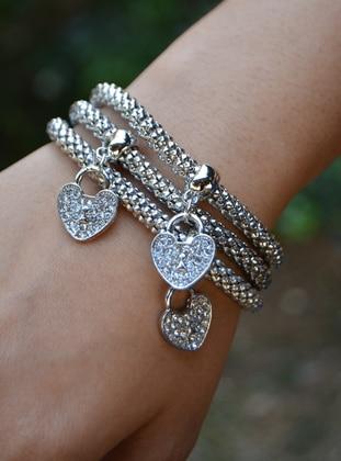 Stoneage Bileklik - Gümüş