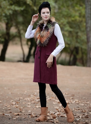 Plum - Unlined - Vest