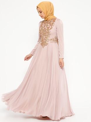 Sahra Abiye Elbise - Pudra - An-Nahar Ürün Resmi