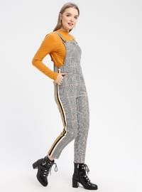 Mustard - Plaid - Unlined - Jumpsuit