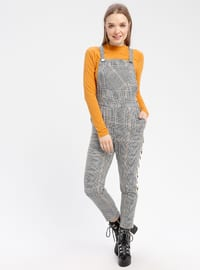 Mustard - Plaid - Unlined - Jumpsuit