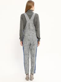 Saxe - Plaid - Unlined - Jumpsuit