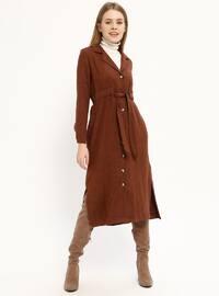 Terra Cotta - Shawl Collar - Unlined - Dresses