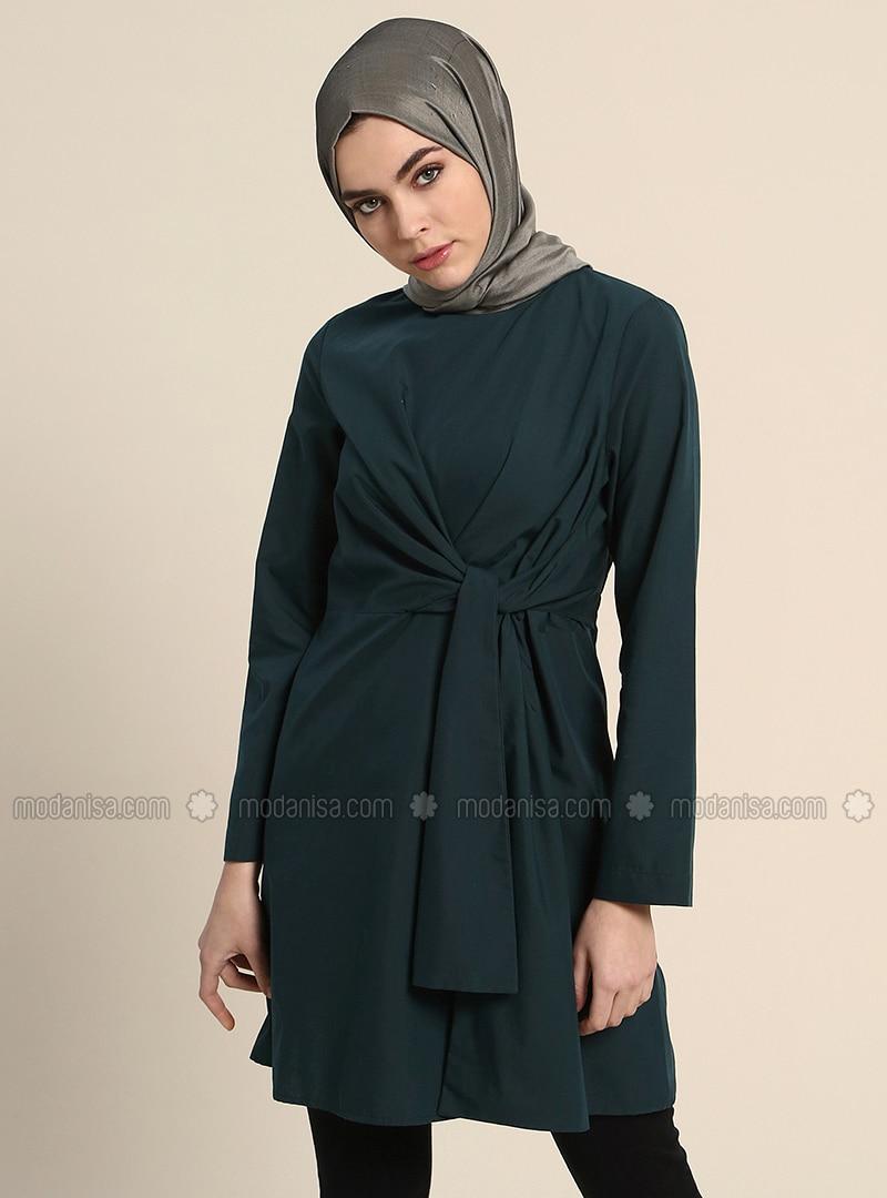 Emerald - Crew neck - Cotton - Tunic