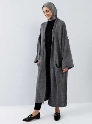 Smoke-coloured - Cotton - Acrylic -  - Cardigan